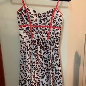 NWT PARKER LEOPARD SILK SHORT DRESS! SIZE XS! $235